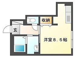 岡山県岡山市北区今6丁目の賃貸アパートの間取り