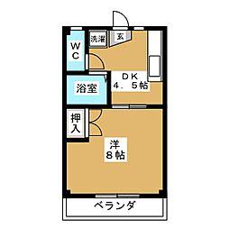第2むかゆう荘[1階]の間取り