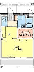 (仮称)都城牟田町マンション北棟 3階ワンルームの間取り