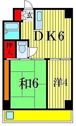 柴又第1STマンション[1階]の間取り