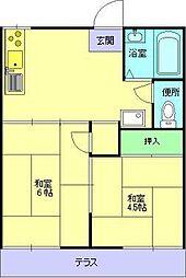 [テラスハウス] 大阪府大阪市鶴見区諸口4丁目 の賃貸【/】の間取り