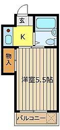 埼玉県朝霞市三原2丁目の賃貸アパートの間取り