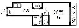 大宝若江岩田CTスクエア[203号室号室]の間取り