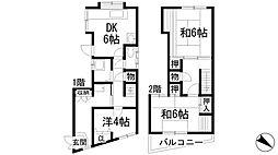 [一戸建] 兵庫県宝塚市中州1丁目 の賃貸【/】の間取り