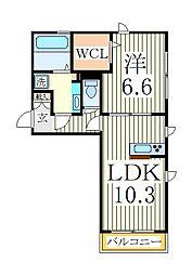 セレーノ柏[1階]の間取り