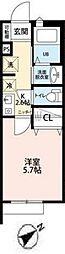 サンクレール松戸[103号室号室]の間取り