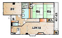 ナンバーワン八幡駅前ビル[3階]の間取り