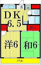 弘道ハイツ[205号室]の間取り