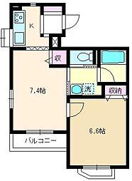 埼玉県朝霞市西弁財1丁目の賃貸マンションの間取り
