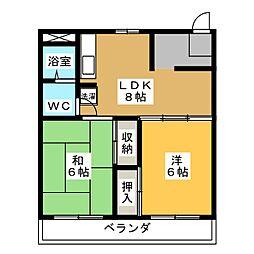 コーポ静岡[8階]の間取り