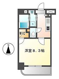 愛知県名古屋市中村区太閤1丁目の賃貸マンションの間取り