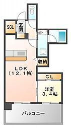 ザ・レジデンス江坂[8階]の間取り