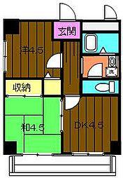 ラメゾンデ堺[213号室]の間取り