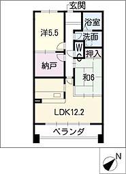 YGMマンション上小田井[4階]の間取り