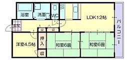 CALMO 姫路東[1階]の間取り