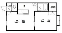 ロイヤルハウス豊岡[105号室]の間取り