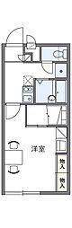 兵庫県神戸市北区藤原台北町3丁目の賃貸アパートの間取り