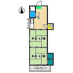 みどりマンション[3階]の間取り
