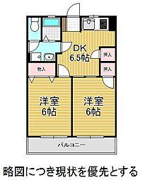 大村宮東マンション[4階]の間取り
