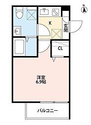 クラリスクオーレ[1階]の間取り
