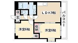 グランディアム香坂[301号室]の間取り
