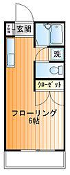 藤井ハイツ[2f号室]の間取り