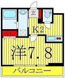 ROYGENT SUGAMO EAST 1階1Kの間取り