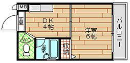 プレステージ堂島[5階]の間取り