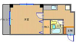 長崎県長崎市桜馬場2丁目の賃貸マンションの間取り