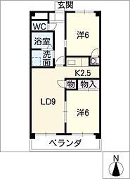 シーサイドコート華[1階]の間取り