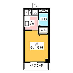 ベルトピア松下[4階]の間取り