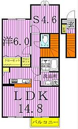 Villa Excel II 〜ヴィラエクセルII〜[206号室]の間取り