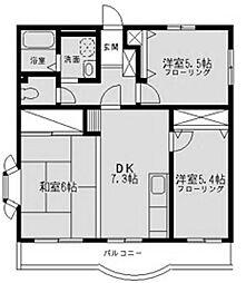 コート・グランシャリオ[1階]の間取り