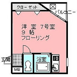 フェローズ21[2階]の間取り