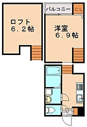 ソライエステージ吉塚[1階]の間取り