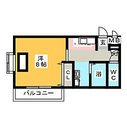 ルパンハウス[1階]の間取り