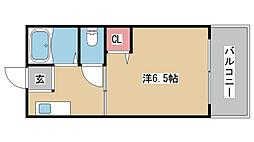 兵庫県神戸市東灘区鴨子ヶ原1丁目の賃貸アパートの間取り