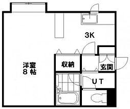 北海道札幌市清田区清田二条2丁目の賃貸マンションの間取り