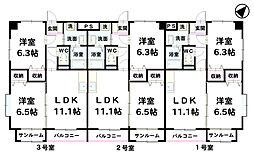 シヤンドゥ[301号室]の間取り