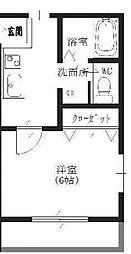 東京都江戸川区東葛西1の賃貸アパートの間取り