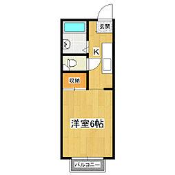 第三中島コーポA[2階]の間取り