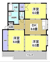 サージタウンB[2階]の間取り