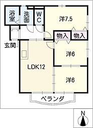 FieldCourt[1階]の間取り