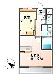ELEANOR 3階1LDKの間取り