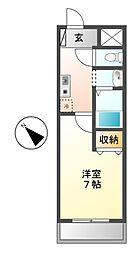 愛知県名古屋市昭和区雪見町1の賃貸マンションの間取り