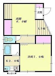 [一戸建] 神奈川県横浜市中区本牧間門 の賃貸【/】の間取り