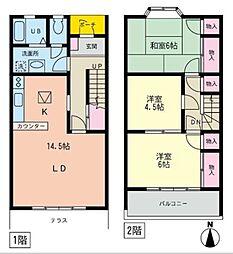 [テラスハウス] 神奈川県藤沢市天神町2丁目 の賃貸【/】の間取り