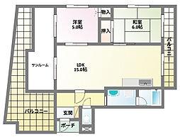 兵庫県神戸市兵庫区新開地1丁目の賃貸マンションの間取り