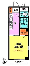 メゾン マロン(3F東南角)[3階]の間取り