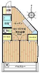 東京都西東京市緑町3丁目の賃貸マンションの間取り